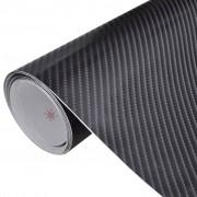 vidaXL Pellicola auto vinile fibra di carbonio 4D nero 152 x 200 cm