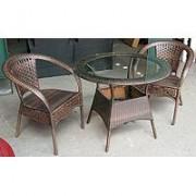 Garnitura od Wicker-a Positivo - 2 - - 2 stolice + sto