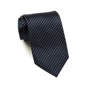 HUGO BOSS Silk Shiny Grid Tie MEDIUM GREY