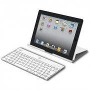 Adesso Compagno Bluetooth Keyboard with Universal Case Stand for iPad mini Aluminum (WKB-1000XW)