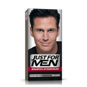 JUST FOR MEN SHAMPOO IN HAIR COLOUR (Real Black) 1 Application