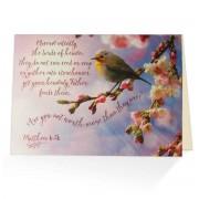 Cheery Little Bird - Matthew 6:26 - (Biblical Encouragement Greeting Card)