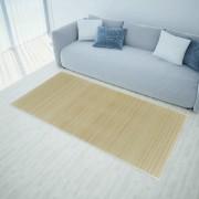 vidaXL Правоъгълен естествен бамбуков килим 120 x 180 см