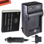 BM Premium NB6L NB-6L NB-6LH Battery and Charger Kit for Canon PowerShot S120 SX170 IS SX260 HS SX280 HS SX500 IS SX510 HS SX520 HS SX530 HS SX540 HS SX600 HS SX610 HS SX700 HS SX710 HS ELPH 500 HS D10 D20 D30 Digital Camera