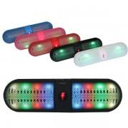 Bluetooth hangszóró Led, Mp3,Rádió,USB, TF kártya,3,5 jack,mikrofon,vezeték nélküli telefon kihangosítás - BT-808L