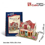 W3108h Cubicfun Cubic FUN 3d Puzzle Model 34pcs British Flavor Ironmongery Shop.