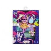 My Little Pony - Equestria Girls : Poupée Twilight Sparkle Et Spike Le Chiot - Rainbow Rocks