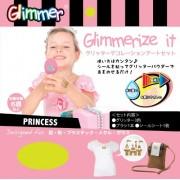 Princess Glimmerize It Glitter Tattoo Transfer Art Kit For Skin Fabric Plastic Metal Glass