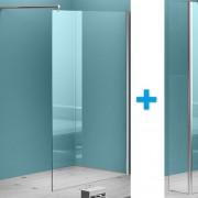 Inloopdouche Eco met Zijwand 120x200cm 30x200cm Antikalk Helder Glas Chroom Profiel 8mm Veiligheidsglas Easy Clean