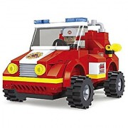 City Fire Chief Car Fire Brigade 133pc Set Educational Building Blocks Set Compatible To Lego Parts - Best Gift For Boys