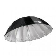 Quadralite Space 150 Silver - Umbrela reflexie parabolica, argintiu, 150 cm