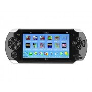 X6 4.3 Inch Handheld Game Console Real 8Gb Memory With Tv Output Camera/Music/E-Book Built-In 400 Free Games (Black)