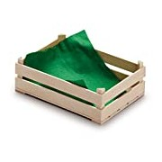 Wooden Play Food - Pretend Play Grocery Shop - Large Crate for Fruits by Erzi