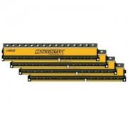 Memorie Crucial Ballistix Tactical LP 16GB (4x4GB) DDR3, 1600MHz, PC3-12800, CL8, 1.35V, Quad Channel Kit, BLT4C4G3D1608ET3LX0BEU