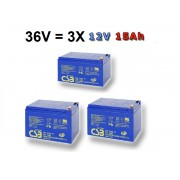 Akumulátory CSB EVH12150 36V 3X15Ah
