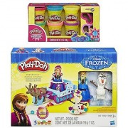 Play-Doh Sled Adventure Playset Featuring Disneys Frozen Elsa Anna Sven and Olaf Plus Extra Play-Doh Sparkle Compound