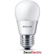 Bec LED Philips Lustra 4W (25W) ,Soclu E27 , Alb cald