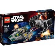 LEGO Starwars 75150 Darth Vaders TIE Advanced tegen de A-Win