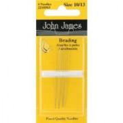 Colonial Needle Beading Hand Needles-size 10/13 4/pkg