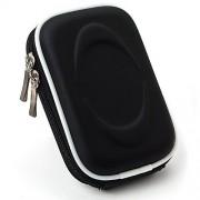 Compact Slim EVA Camera Case for Sony Cyber-shot DSC-W800 WX350 W830 W810 WX300 WX80 W730 W710 WX150 W690 WX50 WX70 W610 W620 W650 Point and Shoot Digital Cameras (Black)