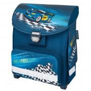 Ghiozdan ergonomic neechipat, dimensiune 30x38x21cm motiv Smart Super Racer
