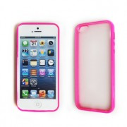 Dual Design TPU PC Back Case for iPhone 5/5S/SE - Pink