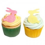 12 Rabbit Silhouettes- Beautiful Edible Cake Decorations