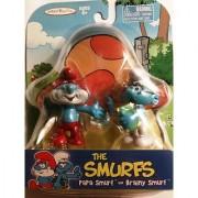 The Smurfs - Papa Smurf and Brainy Smurf by Jakks Pacific