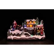 Karácsonyi világító házikó
