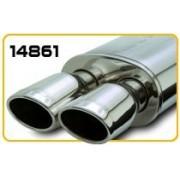 Marmitta Magnaflow 14861 doppio ovale 100 * 76mm stainless