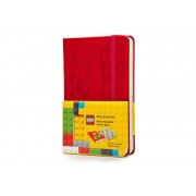 Moleskine Lego Limited Edition Notebook II, Pocket, Ruled, Scarlet Red (3.5 X 5.5)