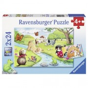 PUZZLE ANIMALE JUCAUSE, 2X24 PIESE (RVSPC09194)