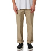 Dickies Polyester Cotton Flat Front Stain Release Khaki Mens Pants