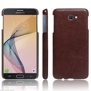 First 4 Cover For Samsung Galaxy J5 Prime Leather Back Cover (Brown)