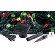 Lunartec Guirlande solaire 50 LED multicolores