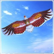3D American Bald Eagle Kite Flying Toy & Hobby Outdoor Park Beach Fun Garden Farm Defense Bird Scaring Traditional Chinese Souvenir Art & Handicraft Collectible Brown