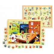 Magnetic Twin Play Tray - Alphabet Attic By Instabuyz