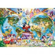 Puzzle harta lumii Disney, 1000 piese, RAVENSBURGER Puzzle Adulti