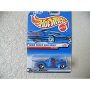 Hot Wheels - 1998 First Editions - 1940 Ford Pickup - Die Cast - #20 of 40 Cars - Blue Metallic Paint - Collector #654 - Limited Edition - Collectible 1:64 Scale