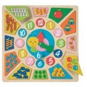 Ceas educativ din lemn copii 18 luni+ New Classic Toys