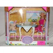 1999 Barbie Doll Tea Time gift set with her friends lil bear and cozy bunny