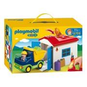 PLAYMOBIL 1, 2, 3: Vrachtwagen met garage (6759)