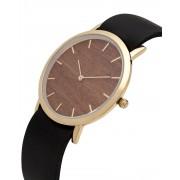 Analog Watch Classic Makore Wood Dial & Black Strap Watch GB-CM