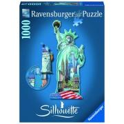 Ravensburger puzzle contur statuia libertatii, 1000 piese