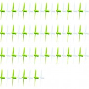 14 X Quantity Of Hero Rc Mini World Mexico Micro 2.4ghz Propeller Blades Lime Green & White Propellers Props Prop Set Blades Rotor Blade Replacements Fast Free Shipping From Orlando, Florida Usa!