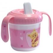 Disney- 33985 - Tasse Bec Verseur - Winnie - porcinet - Tigrou - Rose