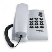 Telefone com Fio de Mesa ou Parede Intelbras Pleno Cinza Claro
