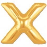 Balon folie figurina litera X aurie