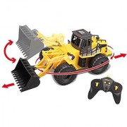 Top Race 6 Channel Full Functional Front Loader RC Remote Control Construction Tractor with Lights & Sounds 2.4Ghz (TR-113G)
