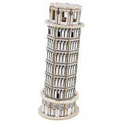 Panegy 3D Italy Leaning Tower of Pisa Wood Jigsaw Puzzle DIY Woodcraft Model Kit Toys